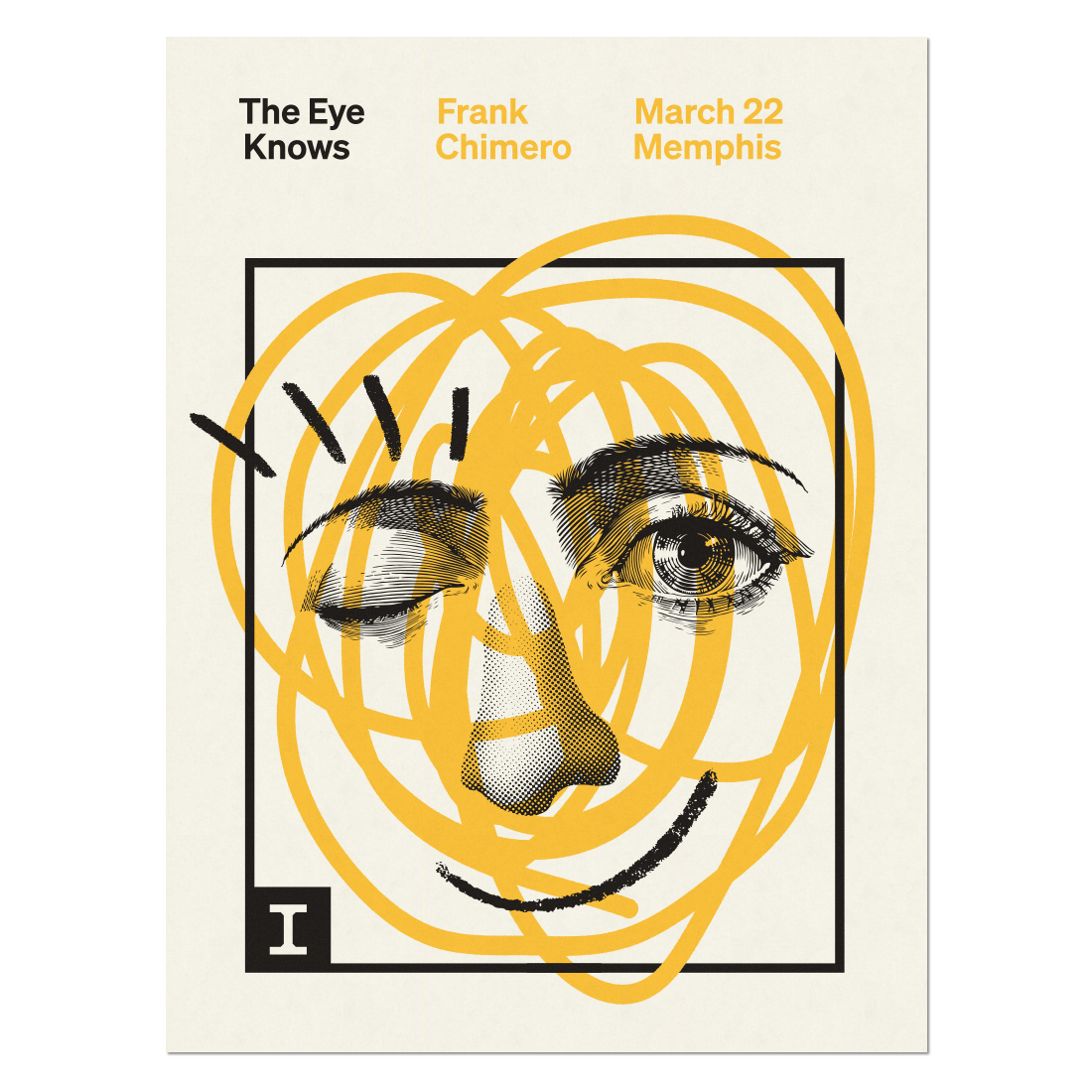The Eye Knows poster by Frank Chimero